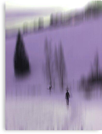Winter Walk (violet), Fischbacher Alps, Austria by KUJO-Photo