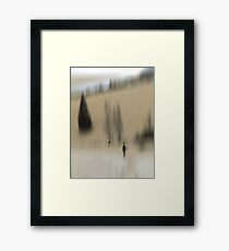 Winter Walk (beige), Fischbacher Alps, Austria Framed Print