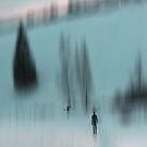Winter Walk (blue), Fischbacher Alps, Austria by KUJO-Photo