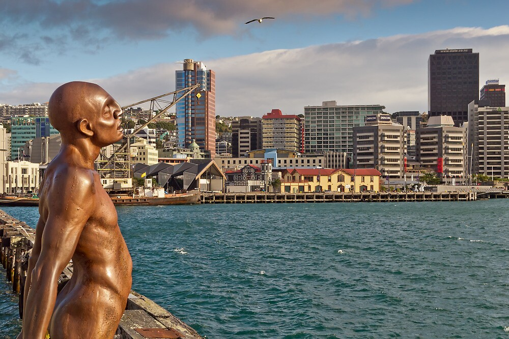 Wellington Man - Solace Of The Wind Sculpture by Russell Charters
