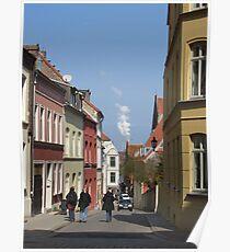 Street Scene, Wismar, Germany Poster
