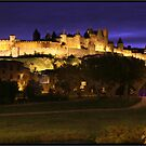 Carcassonne by night by Mark Bunning