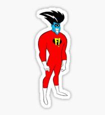 F! Superhero Sticker
