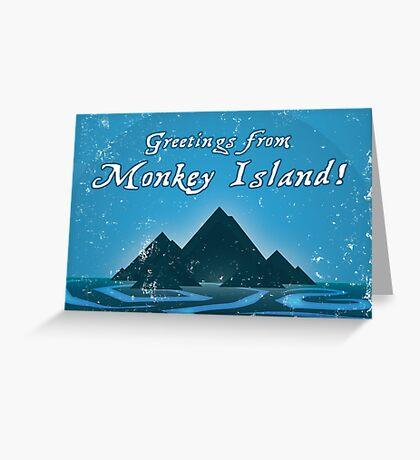 monkey island greeting cards  redbubble, Greeting card