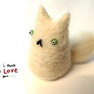 Fluffy Love Cat by Sophie Corrigan
