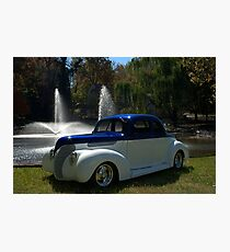 1938 Ford Custom Coupe Hot Rod Photographic Print