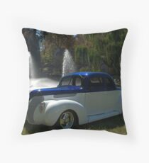 1938 Ford Custom Coupe Hot Rod Throw Pillow