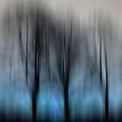 Three Trees in Motion - blue by KUJO-Photo