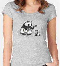 Banjo Panda Women's Fitted Scoop T-Shirt