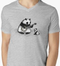 Banjo Panda Men's V-Neck T-Shirt