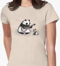 Banjo Panda Women's Fitted T-Shirt