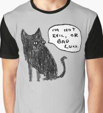 Black Cats Aren't Evil Graphic T-Shirt