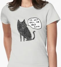 Black Cats Aren't Evil Women's Fitted T-Shirt