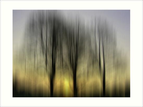 Three Trees in Motion - yellow by KUJO-Photo