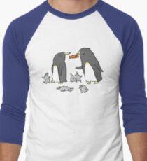 Penguin Family Men's Baseball ¾ T-Shirt