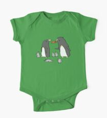 Penguin Family One Piece - Short Sleeve
