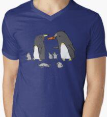 Penguin Family Men's V-Neck T-Shirt