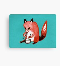 Drumming Fox Canvas Print