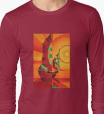 Cubist Junks on A Red Sea Long Sleeve T-Shirt