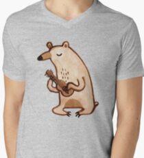 Ukulele Bear Men's V-Neck T-Shirt