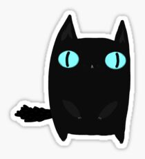Fat Black Cat Sticker
