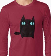 Fat Black Cat Long Sleeve T-Shirt