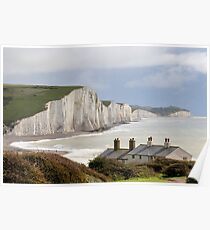 Seven Sisters Cliffs uk Poster