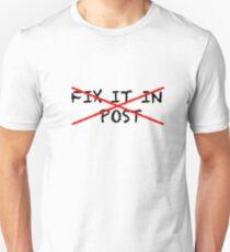Fix it in post - NO T-Shirt