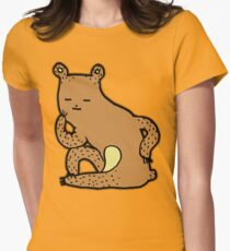 Thinking Bear Womens Fitted T-Shirt