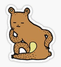 Thinking Bear Sticker