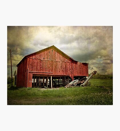 A Red Barn Photographic Print