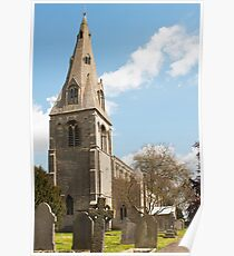 Building, Church, St Peter`s, North Rauceby, Linconshire Poster