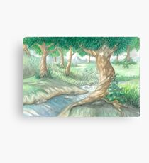 PEACEFUL STREAMS Canvas Print