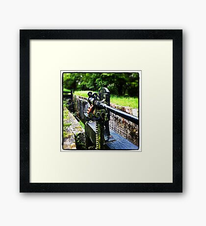 Lock Mechanism Framed Print