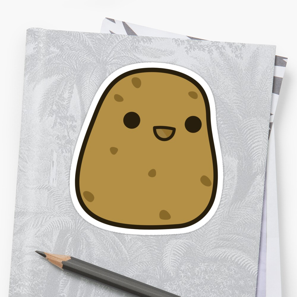 Quot Cute Potato Quot Stickers By Peppermintpopuk Redbubble