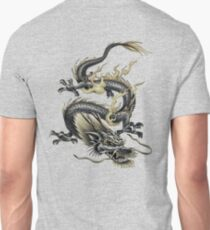 Chinese Dragon In Gray and Gold Unisex T-Shirt