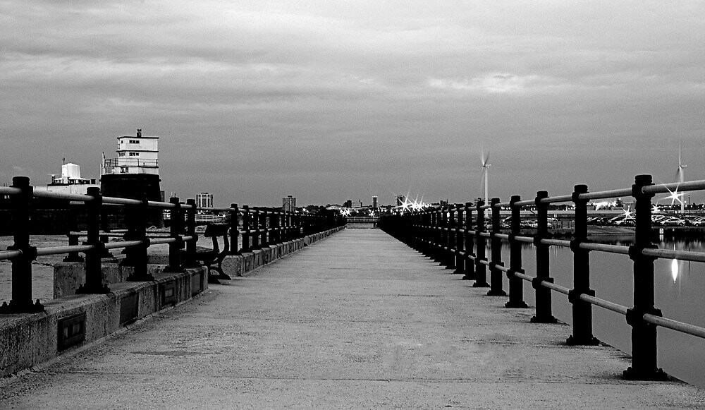 Promenade to the Mersey at Perch Rock. by Andrew Cooper