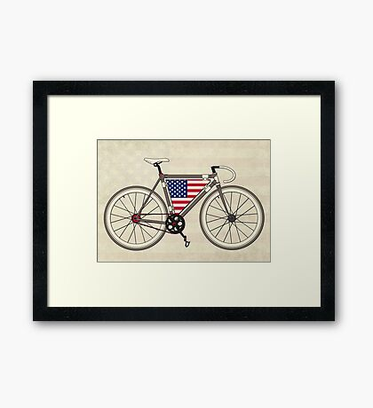 Love Bike, Love America Framed Print