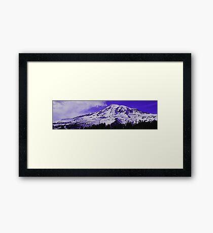 Purple Mt. Rainier Framed Print