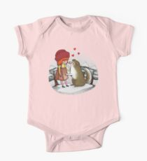 Red Riding Hat One Piece - Short Sleeve