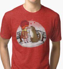 Red Riding Hat Tri-blend T-Shirt