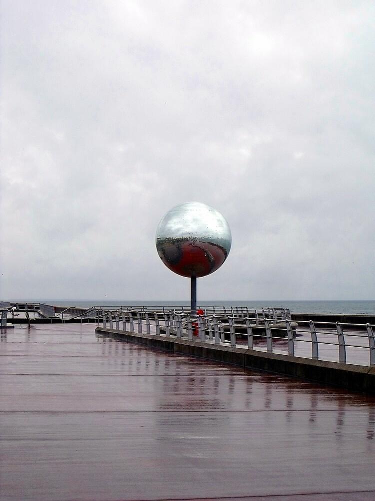 Giant Mirror Ball, Blackpool Promenade by Chris Pilcher