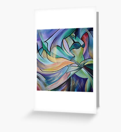 Middle Eastern Belly Dance With Pastel Veils Greeting Card