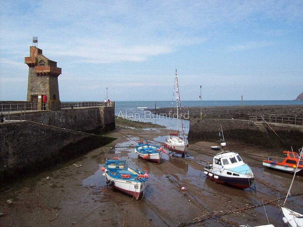 """ Lynmouth Harbour "" by Alan Bumford"