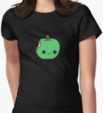 Cute sad apple Womens Fitted T-Shirt