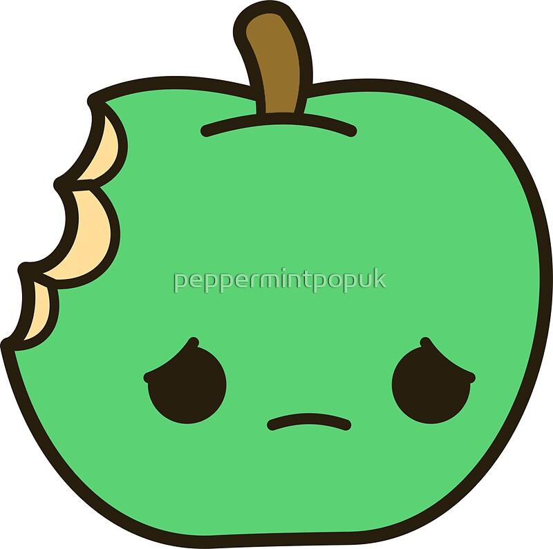 Quot Cute Sad Apple Quot Stickers By Peppermintpopuk Redbubble