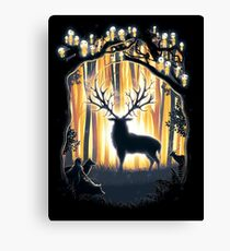 Deer God Master of the Forest Canvas Print