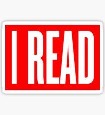 I READ BOOKS Sticker