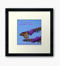Top Ten Banner for Challenge Winners - Butterflies Framed Print
