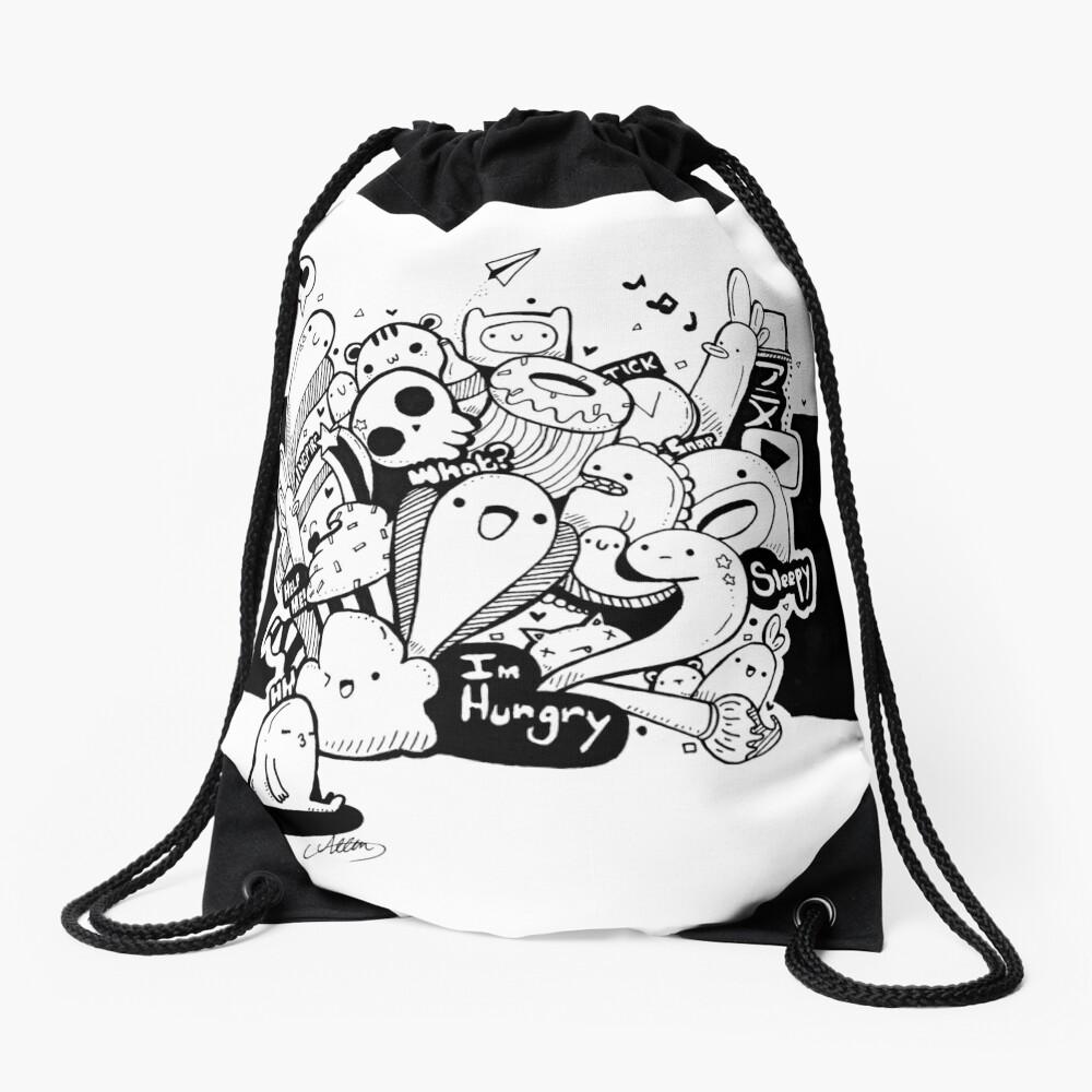 Cute Doodle 1 Drawstring Bag